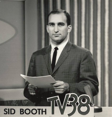 Sid Booth as the 11 pmnews anchor on WSUN-AM-TV St. Petersburg, FL, during the fall of 1962.